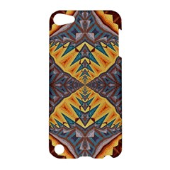 Kaleidoscopic Pattern Colorful Kaleidoscopic Pattern With Fabric Texture Apple iPod Touch 5 Hardshell Case