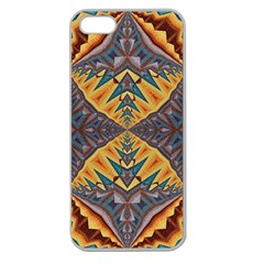 Kaleidoscopic Pattern Colorful Kaleidoscopic Pattern With Fabric Texture Apple Seamless Iphone 5 Case (clear)