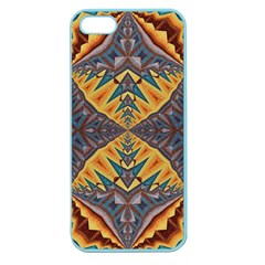 Kaleidoscopic Pattern Colorful Kaleidoscopic Pattern With Fabric Texture Apple Seamless Iphone 5 Case (color)