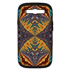 Kaleidoscopic Pattern Colorful Kaleidoscopic Pattern With Fabric Texture Samsung Galaxy S Iii Hardshell Case (pc+silicone)