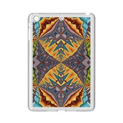 Kaleidoscopic Pattern Colorful Kaleidoscopic Pattern With Fabric Texture iPad Mini 2 Enamel Coated Cases