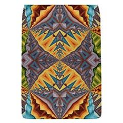 Kaleidoscopic Pattern Colorful Kaleidoscopic Pattern With Fabric Texture Flap Covers (S)