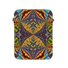 Kaleidoscopic Pattern Colorful Kaleidoscopic Pattern With Fabric Texture Apple Ipad 2/3/4 Protective Soft Cases