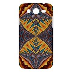 Kaleidoscopic Pattern Colorful Kaleidoscopic Pattern With Fabric Texture Samsung Galaxy Mega 5.8 I9152 Hardshell Case