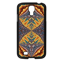 Kaleidoscopic Pattern Colorful Kaleidoscopic Pattern With Fabric Texture Samsung Galaxy S4 I9500/ I9505 Case (Black)