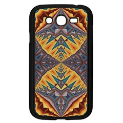 Kaleidoscopic Pattern Colorful Kaleidoscopic Pattern With Fabric Texture Samsung Galaxy Grand DUOS I9082 Case (Black)