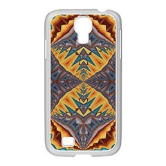 Kaleidoscopic Pattern Colorful Kaleidoscopic Pattern With Fabric Texture Samsung Galaxy S4 I9500/ I9505 Case (white)