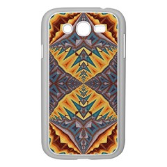 Kaleidoscopic Pattern Colorful Kaleidoscopic Pattern With Fabric Texture Samsung Galaxy Grand DUOS I9082 Case (White)