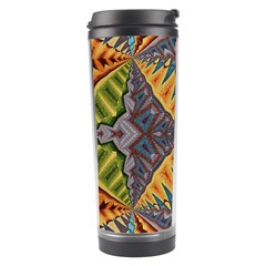 Kaleidoscopic Pattern Colorful Kaleidoscopic Pattern With Fabric Texture Travel Tumbler