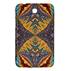 Kaleidoscopic Pattern Colorful Kaleidoscopic Pattern With Fabric Texture Samsung Galaxy Tab 3 (7 ) P3200 Hardshell Case