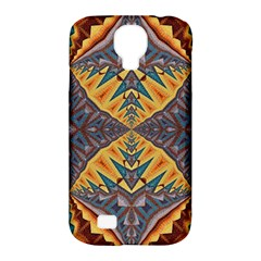 Kaleidoscopic Pattern Colorful Kaleidoscopic Pattern With Fabric Texture Samsung Galaxy S4 Classic Hardshell Case (PC+Silicone)