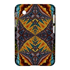 Kaleidoscopic Pattern Colorful Kaleidoscopic Pattern With Fabric Texture Samsung Galaxy Tab 2 (7 ) P3100 Hardshell Case