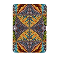 Kaleidoscopic Pattern Colorful Kaleidoscopic Pattern With Fabric Texture Samsung Galaxy Tab 2 (10 1 ) P5100 Hardshell Case