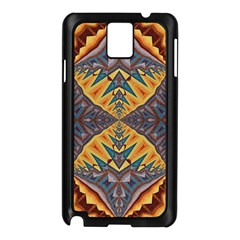 Kaleidoscopic Pattern Colorful Kaleidoscopic Pattern With Fabric Texture Samsung Galaxy Note 3 N9005 Case (black)