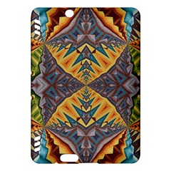 Kaleidoscopic Pattern Colorful Kaleidoscopic Pattern With Fabric Texture Kindle Fire Hdx Hardshell Case