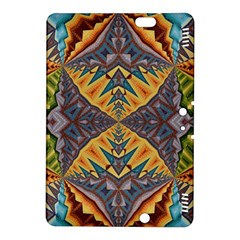 Kaleidoscopic Pattern Colorful Kaleidoscopic Pattern With Fabric Texture Kindle Fire HDX 8.9  Hardshell Case