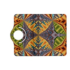 Kaleidoscopic Pattern Colorful Kaleidoscopic Pattern With Fabric Texture Kindle Fire Hd (2013) Flip 360 Case