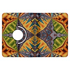 Kaleidoscopic Pattern Colorful Kaleidoscopic Pattern With Fabric Texture Kindle Fire HDX Flip 360 Case