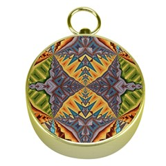 Kaleidoscopic Pattern Colorful Kaleidoscopic Pattern With Fabric Texture Gold Compasses