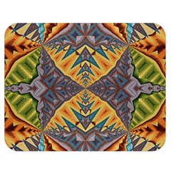 Kaleidoscopic Pattern Colorful Kaleidoscopic Pattern With Fabric Texture Double Sided Flano Blanket (Medium)