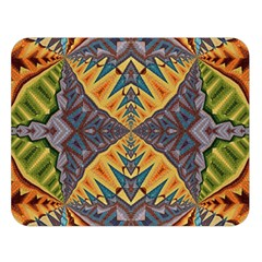 Kaleidoscopic Pattern Colorful Kaleidoscopic Pattern With Fabric Texture Double Sided Flano Blanket (large)