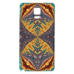 Kaleidoscopic Pattern Colorful Kaleidoscopic Pattern With Fabric Texture Galaxy Note 4 Back Case