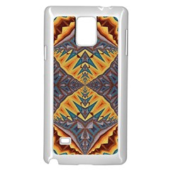 Kaleidoscopic Pattern Colorful Kaleidoscopic Pattern With Fabric Texture Samsung Galaxy Note 4 Case (White)