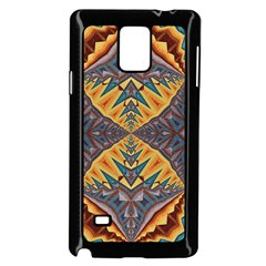 Kaleidoscopic Pattern Colorful Kaleidoscopic Pattern With Fabric Texture Samsung Galaxy Note 4 Case (black)