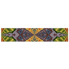 Kaleidoscopic Pattern Colorful Kaleidoscopic Pattern With Fabric Texture Flano Scarf (small)