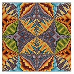 Kaleidoscopic Pattern Colorful Kaleidoscopic Pattern With Fabric Texture Large Satin Scarf (Square)