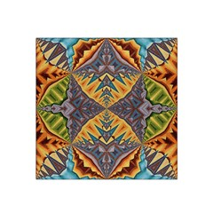 Kaleidoscopic Pattern Colorful Kaleidoscopic Pattern With Fabric Texture Satin Bandana Scarf