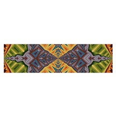 Kaleidoscopic Pattern Colorful Kaleidoscopic Pattern With Fabric Texture Satin Scarf (oblong)