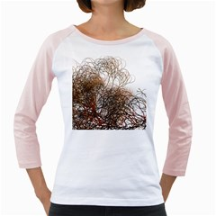 Digitally Painted Colourful Winter Branches Illustration Girly Raglans