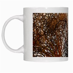 Digitally Painted Colourful Winter Branches Illustration White Mugs