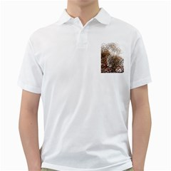 Digitally Painted Colourful Winter Branches Illustration Golf Shirts
