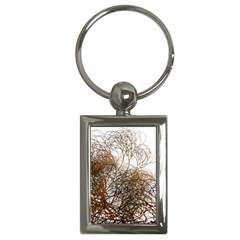 Digitally Painted Colourful Winter Branches Illustration Key Chains (Rectangle)