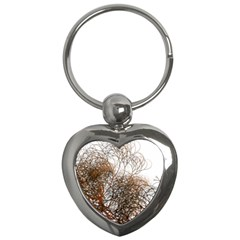 Digitally Painted Colourful Winter Branches Illustration Key Chains (Heart)