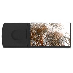 Digitally Painted Colourful Winter Branches Illustration USB Flash Drive Rectangular (1 GB)