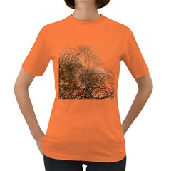 Digitally Painted Colourful Winter Branches Illustration Women s Dark T-Shirt