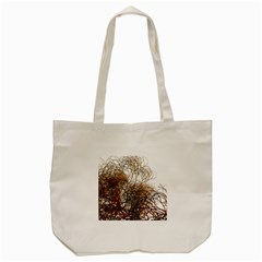 Digitally Painted Colourful Winter Branches Illustration Tote Bag (Cream)
