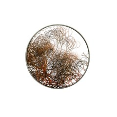 Digitally Painted Colourful Winter Branches Illustration Hat Clip Ball Marker