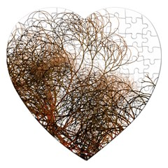 Digitally Painted Colourful Winter Branches Illustration Jigsaw Puzzle (heart)