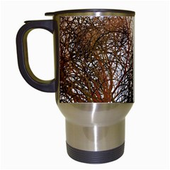 Digitally Painted Colourful Winter Branches Illustration Travel Mugs (White)