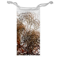 Digitally Painted Colourful Winter Branches Illustration Jewelry Bag