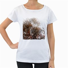 Digitally Painted Colourful Winter Branches Illustration Women s Loose Fit T Shirt (white)