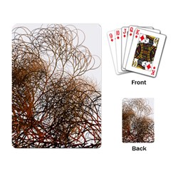 Digitally Painted Colourful Winter Branches Illustration Playing Card