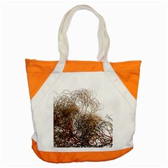 Digitally Painted Colourful Winter Branches Illustration Accent Tote Bag
