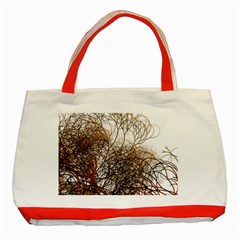 Digitally Painted Colourful Winter Branches Illustration Classic Tote Bag (red)