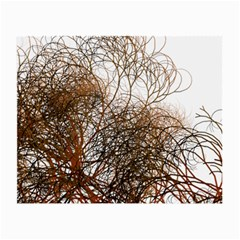 Digitally Painted Colourful Winter Branches Illustration Small Glasses Cloth (2-Side)