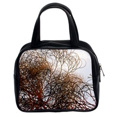 Digitally Painted Colourful Winter Branches Illustration Classic Handbags (2 Sides)